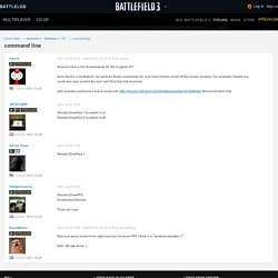 command line - Forums