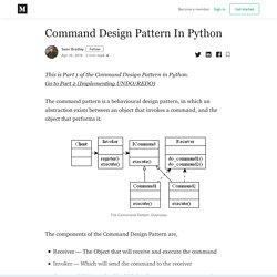 Command Design Pattern In Python - Sean Bradley - Medium