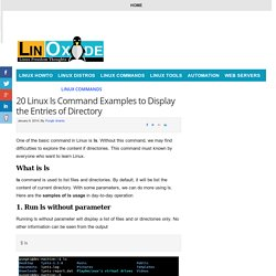20 Linux ls Command Examples to Display the Entries of Directory