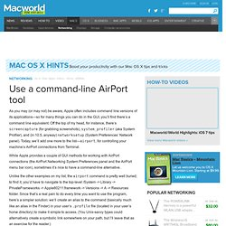 Use a command-line AirPort tool