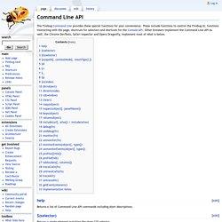 Command Line API - FirebugWiki