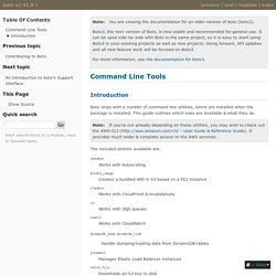 Command Line Tools — boto v2.41.0