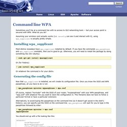 Command line WPA