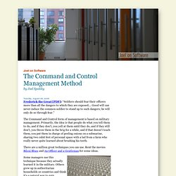 The Command and Control Management Method