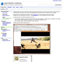 get-flash-videos - A command line program to download flash videos
