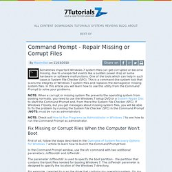how to repair hard drive command prompt