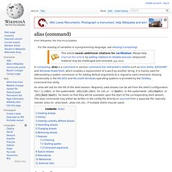 alias (command)