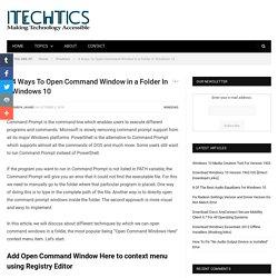 4 Ways To Open Command Window in a Folder In Windows 10