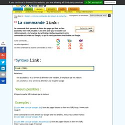 La commande link: analyse des backlinks
