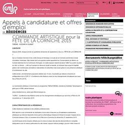 COMMANDE ARTISTIQUE pour la FÊTE DE LA CORNICHE 2015