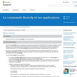 La commande Bootcfg et ses applications