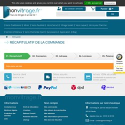 Commande - Monvitrage.fr
