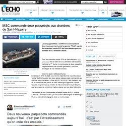 MSC commande deux paquebots aux chantiers de Saint-Nazaire