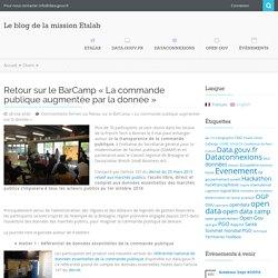 Retour sur le BarCamp «La commande publique augmentée par la donnée»