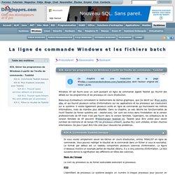 La ligne de commande Windows et les fichiers batch