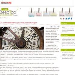 Dix commandements pour mieux communiquer - Beeotop