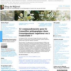 12 commandements pour le Conseiller pédagogique dans l'enseignement supérieur