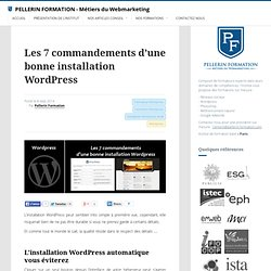 Bonne installation WordPress
