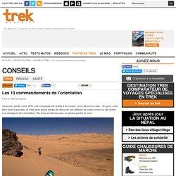Les 10 commandements de l'orientation - Conseils Trek