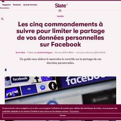 Les cinq commandements à suivre pour limiter le partage de vos données personnelles sur Facebook