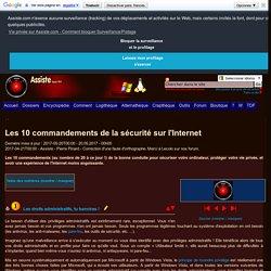 Les 10 commandements de la sécurité sur l'Internet
