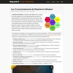 Les 10 commandements de l'Expérience Utilisateur