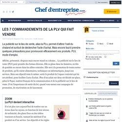 LES 7 COMMANDEMENTS DE LA PLV QUI FAIT VENDRE - le guide - MARKETING
