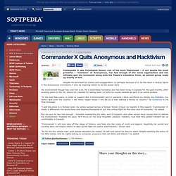 Commander X Quits Anonymous and Hacktivism