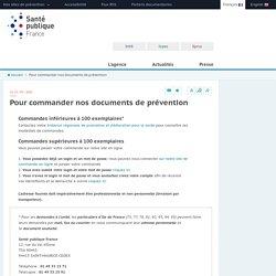 Santé publique France - Pour commander nos documents de prévention