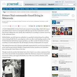 Former Nazi commander found living in Minnesota