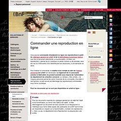 Commander une reproduction en ligne
