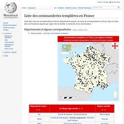 Liste des commanderies templières en France