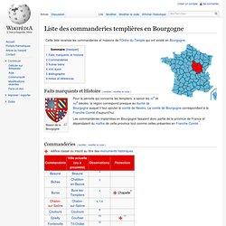 Liste des commanderies templières en Bourgogne