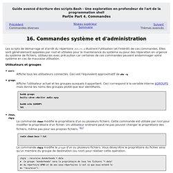 Chapitre16.Commandes système et d'administration