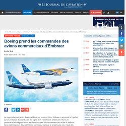 Boeing prend les commandes des avions commerciaux d'Embraer