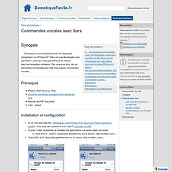 Commandes vocales avec Sara - DomotiqueFacile.fr