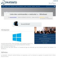 Windows - Liste des commandes « exécuter»