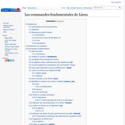 Les commandes fondamentales de Linux