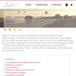 101 commandes indispensables sous linux