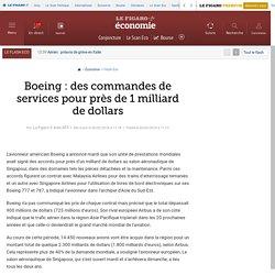 Boeing : des commandes de services pour près de 1 milliard de dollars