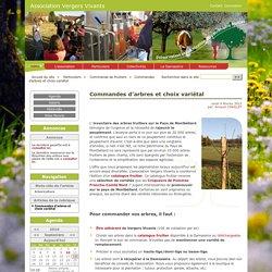 Commandes d'arbres et choix variétal - Association Vergers Vivants