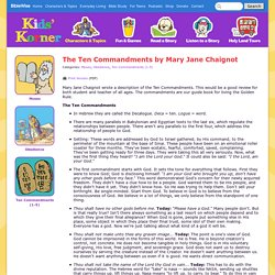 Teaching the Ten Commandments (Sunday School) - Kids Korner - BibleWise