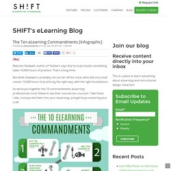 The Ten eLearning Commandments [Infographic]