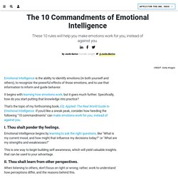 The 10 Commandments of Emotional Intelligence
