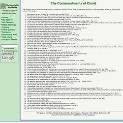Commandments of Christ