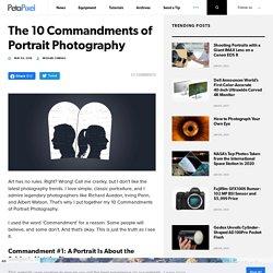 The 10 Commandments of Portrait Photography