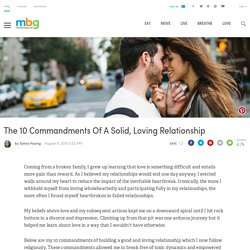 The 10 Commandments Of A Solid, Loving Relationship
