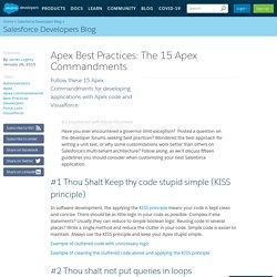 Apex Best Practices: The 15 Apex Commandments