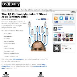 The 10 Commandments of Steve Jobs [Infographic]