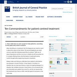 Ten Commandments for patient-centred treatment